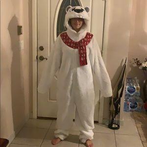 Holiday Polar Bear Union suit 2xl